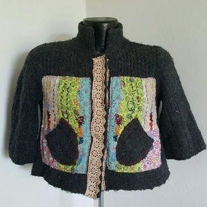 Free people women cardigan 3/4 sleeve size S